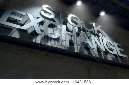 Modern Stock Exchange Signage