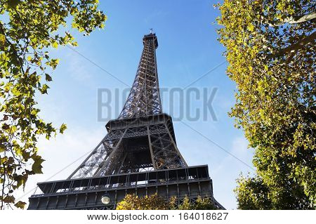 Famous Eiffel Tower in Paris in France