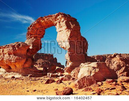 Bizarre rocks in Sahara Desert, Tadrart, Algeria