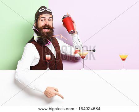 Smiling Handsome Bearded Pilot