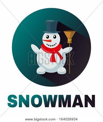 Snowman Vector Icon