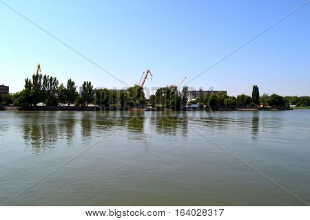 The don river, Rostov-on-don. Russia.  Photo taken on: July 17 Wednesday, 2013