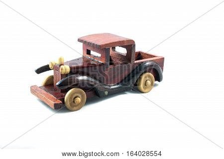Wooden toy car, wood, toy, material, isolated, white, wheel, sparse, nature