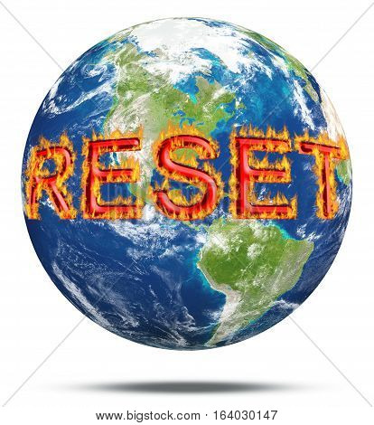 Our planet earth needs a reset button