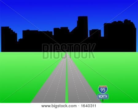 Baltimore With Interstate