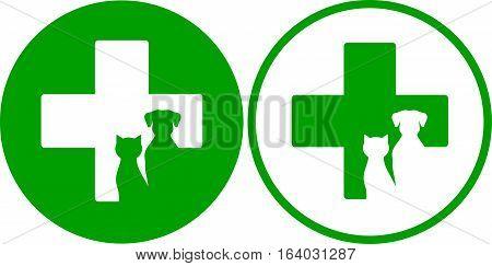 Green Veterinary Icons