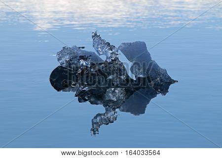 Detail of an Iceberg at Jokulsarlon Lagoon. Iceland