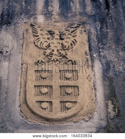 Coat of arms with an eagle in Lisbon Portugal