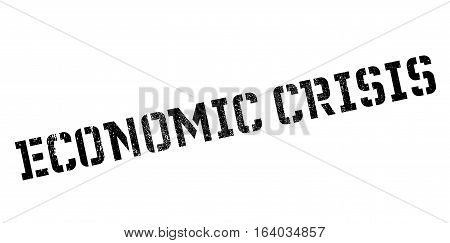 Economic Crisis rubber stamp. Grunge design with dust scratches. Effects can be easily removed for a clean, crisp look. Color is easily changed.