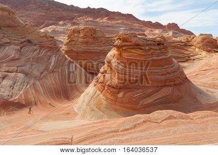 Tripod in the Desert of The Wave Coyote Buttes Paria Canyon-Vermilion Cliffs Wilderness, Utah, United States of America