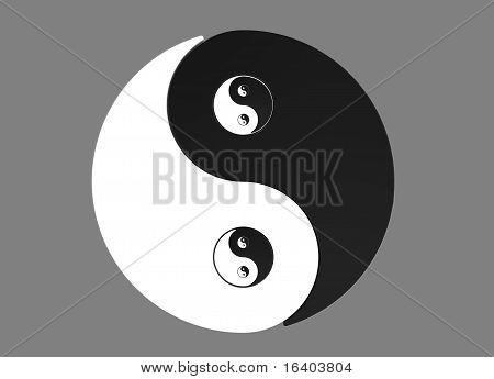 Recursive Yin Yang Symbol