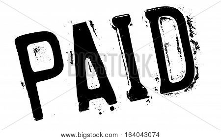 Paid stamp. Grunge design with dust scratches. Effects can be easily removed for a clean, crisp look. Color is easily changed.