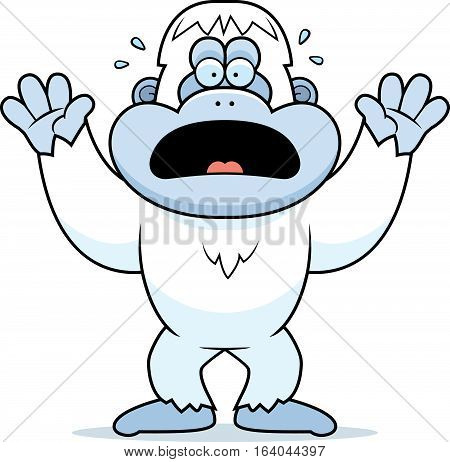 Cartoon Yeti Panicking