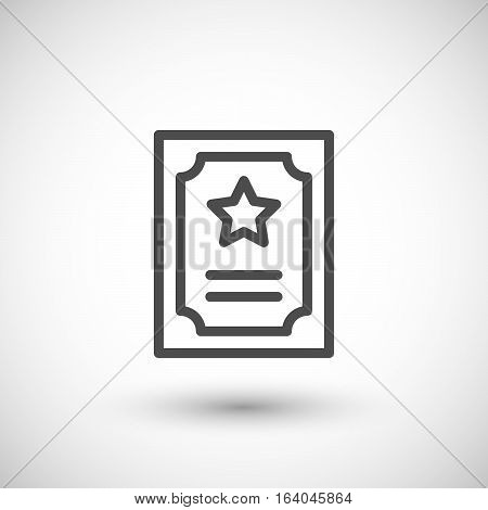 Charter line icon isolated on grey. Vector illustration