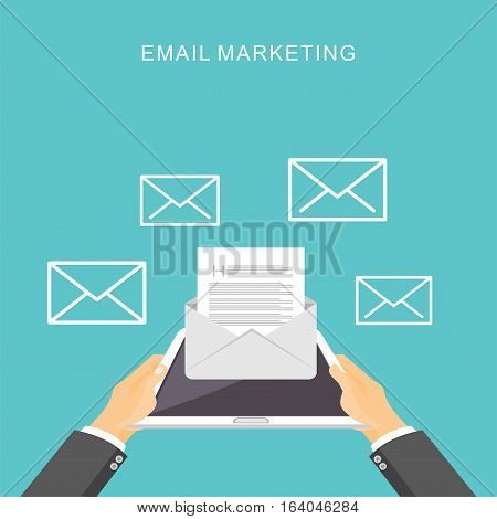 Email marketing. Business email advertisement. Inbox message.