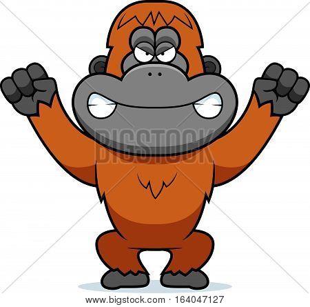 Angry Cartoon Orangutan