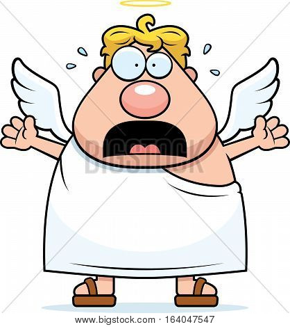 Cartoon Angel Panicking