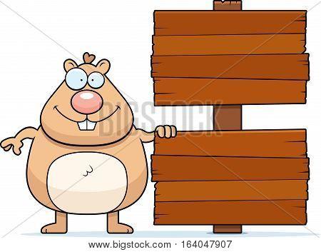 Cartoon Hamster Sign