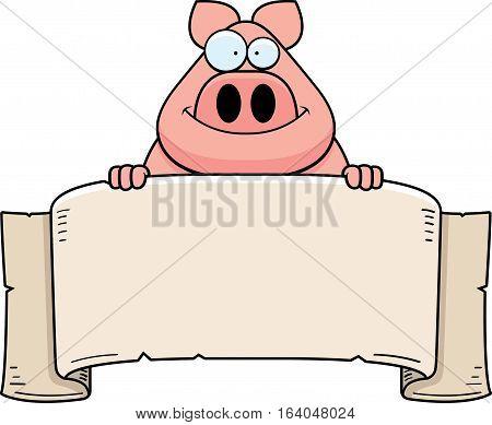 Cartoon Pig Banner