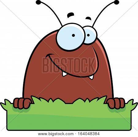 Cartoon Flea Grass Sign