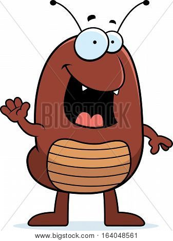 Cartoon Flea Waving