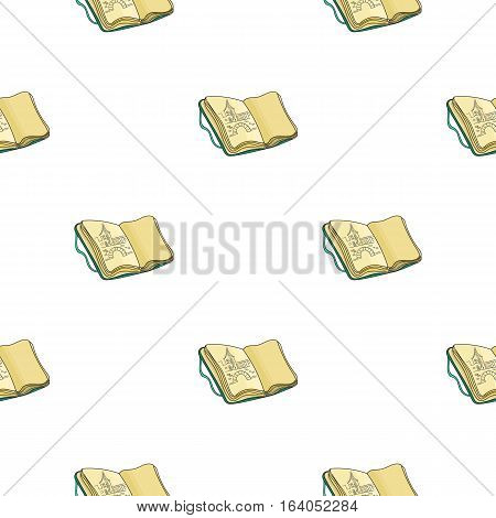 Sketchbook with drawings icon in pattern style isolated on white background. Artist and drawing symbol vector illustration.