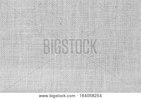 Closeup surface weave rope bag textured background in black and white tone