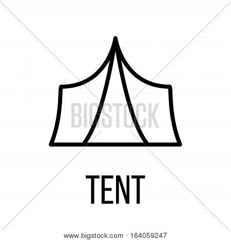 Tent icon or logo in modern line style. High quality black outline pictogram for web site design and mobile apps. Vector illustration on a white background.