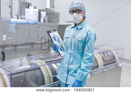 Inspector In The Production Control Process