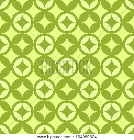 diamond pattern green circle vector graphic design abstraction