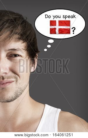 Handsome young student do you speak Danish?