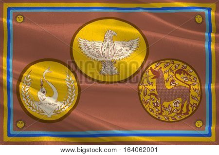 Flag of Eastern Province is one of the nine provinces of Sri Lanka. 3d illustration