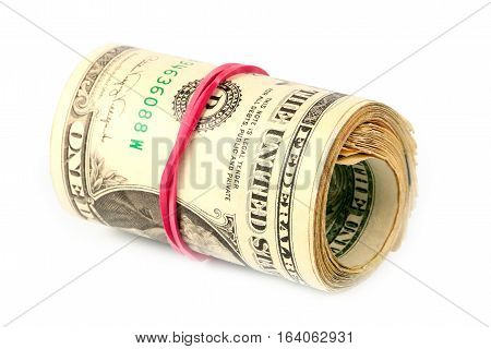 rolled and related paper money dollars as part of the economic global payment system