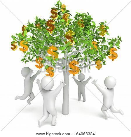 Dollar Grows On A Tree. Money Tree