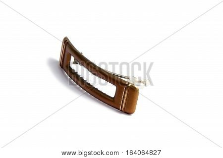 Women's plastic hair clip isolated on white