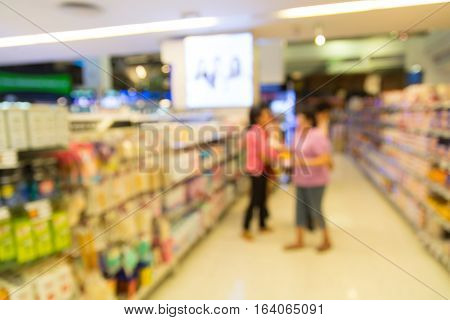 People Shopping For Grocery In Supermarket