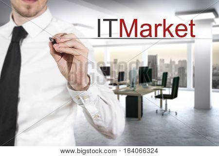 business writing it market in modern office