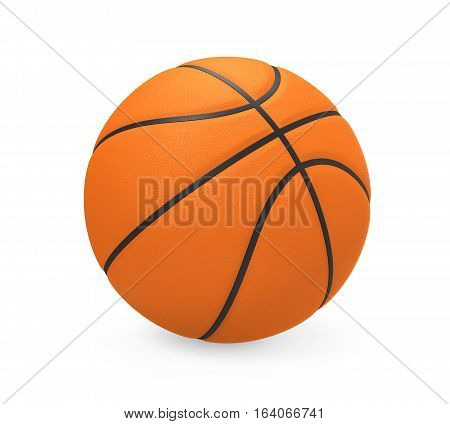 Basketball isolated on white background. 3D render