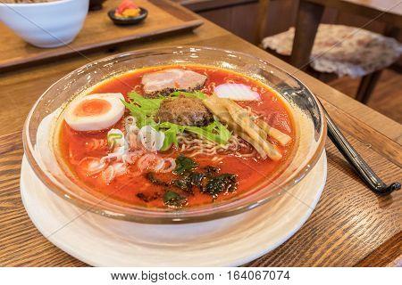 Spicy Hida Takayama Ramen in Chubu of Japan