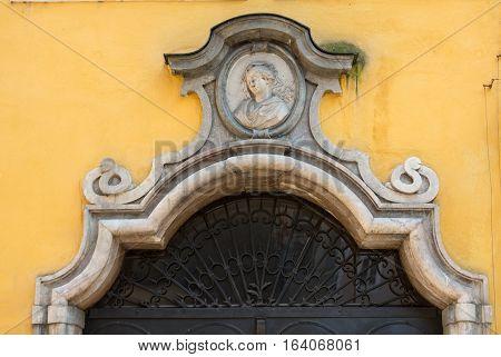 SALZBURG, AUSTRIA - APRIL 29, 2016: Birthplace of Wolfgang Amadeus Mozart in Salzburg Austria