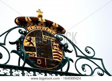 Rustic historical coat of arms in Bad Homburg, Germany