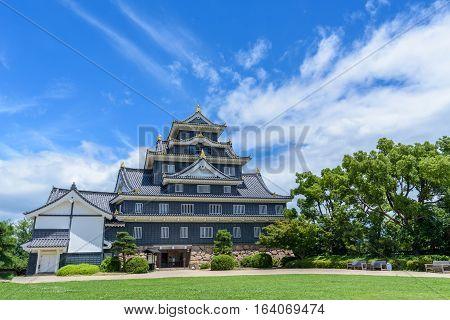 Okayama Castle or Crow Castle in Japan