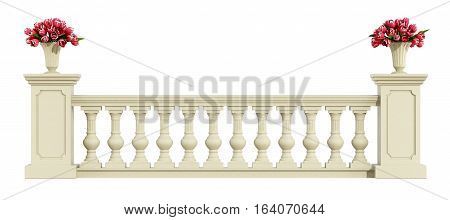 Classic Balustrade Isolated On White