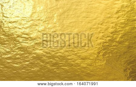 Gold foil metal decorative texture for background