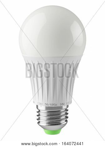 Economical energy savings modern LED lamp isolated on white background. Icon 3d