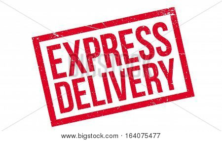 Express Delivery rubber stamp. Grunge design with dust scratches. Effects can be easily removed for a clean, crisp look. Color is easily changed.