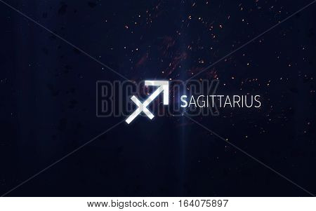 Zodiac sign - Sagittarius. Elements of this image furnished by NASA