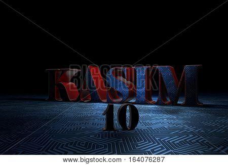 Ataturk, Mustafa Kemal, Turkey, 3D Render, 10 November Design and Presentation