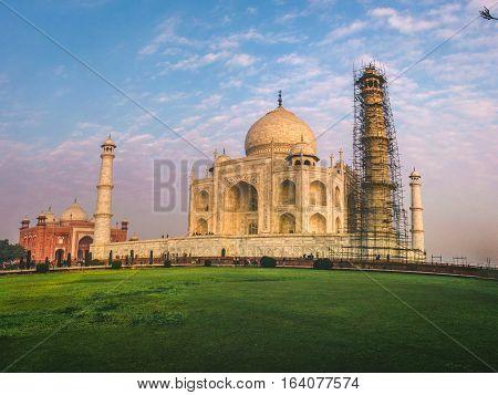 Taj Mahal Agra- Seven Wonders of The World.