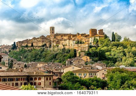 Historical center of Colle di Val d'Elsa a medieval town in the province of Siena Tuscany Italy